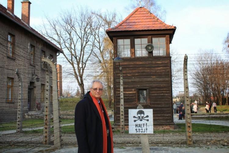 Professor Dajani visits in Auschwitz in 2014