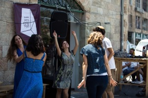Community members celebrate art at a Beita reception
